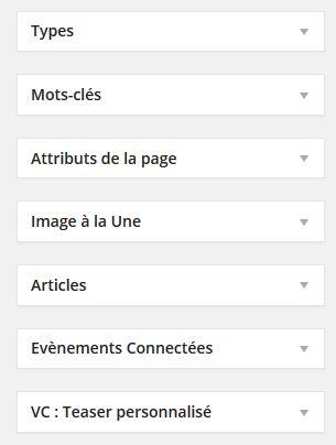 option edition page colonne droite